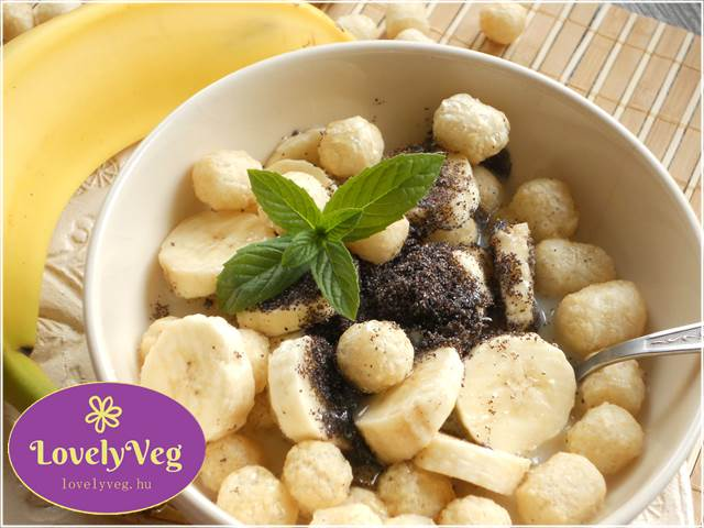 Banános-mákos kölesgolyó recept