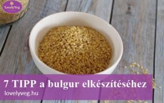 Bulgur felhasználása