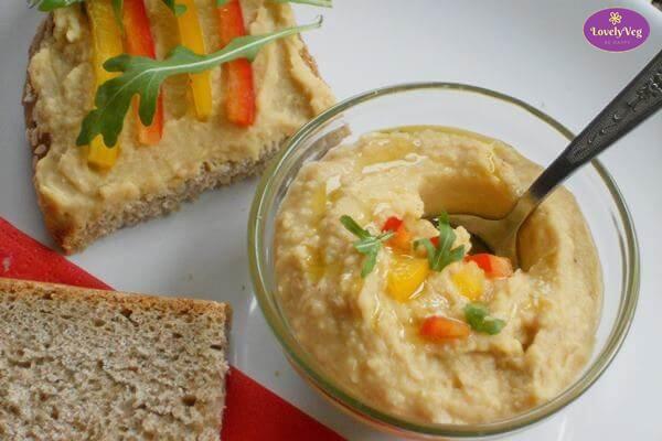 Csicseriborsó krém recept - hummusz