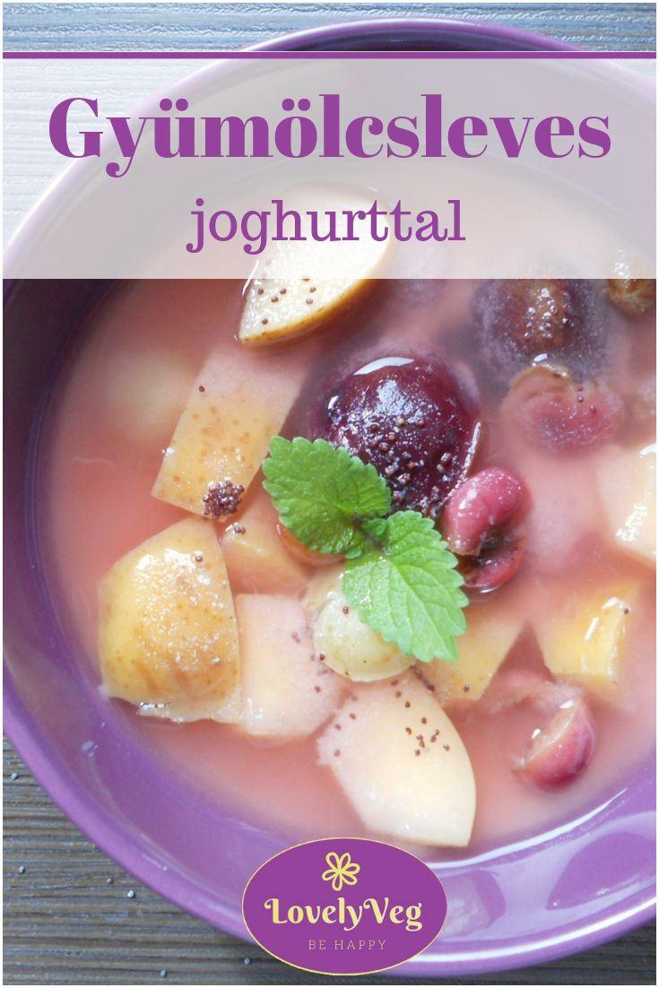 joghurtos gyümölcsleves