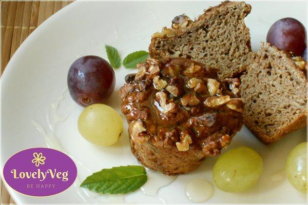 körtés muffin tokaji aszús öntettel