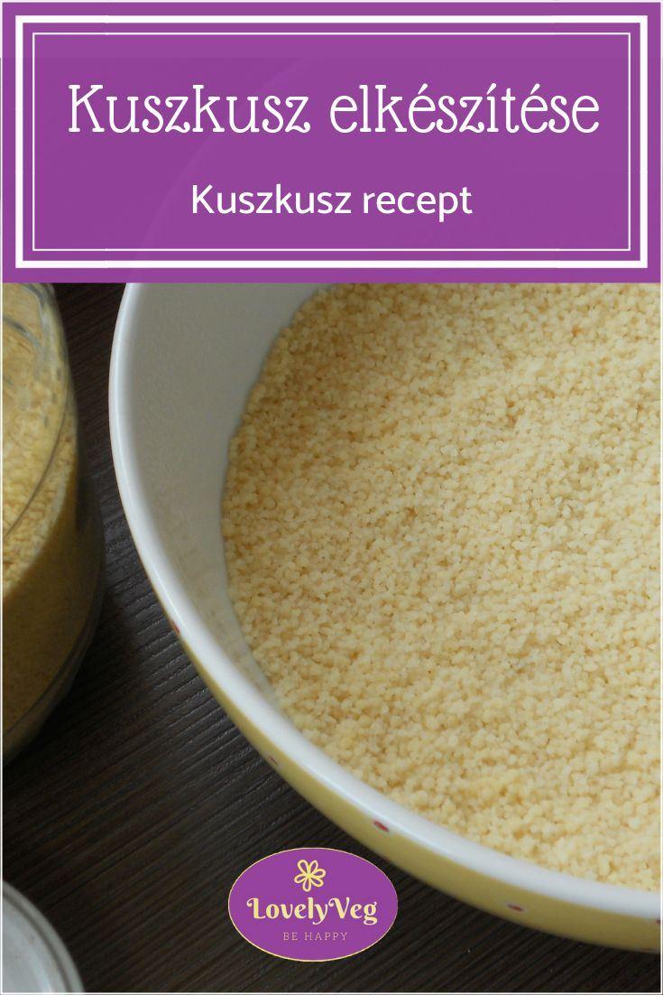 kuszkusz elkészítése, kuszkusz recept