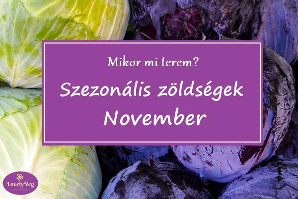 Mikor mit terem? Szezonális zöldsége novemberben