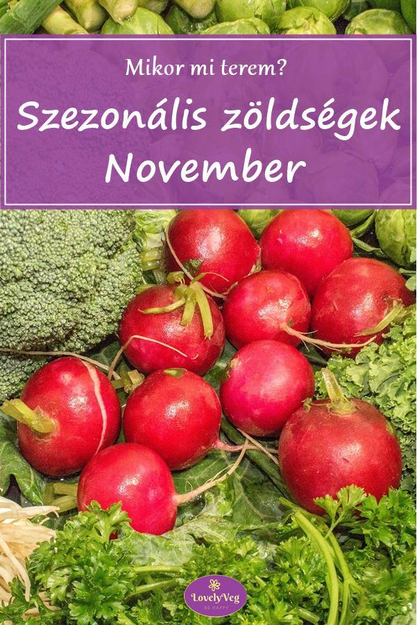 Mikor mi terem? Szezonális zöldségek novemberben