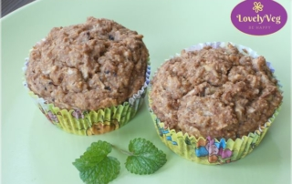 vegán almás muffin