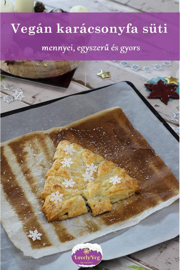 Vegán karácsonyfa süti