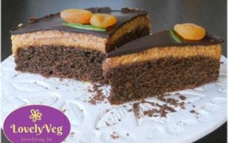Vegán Sacher torta