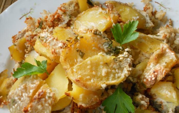 Vegetáriánus rakott krumpli