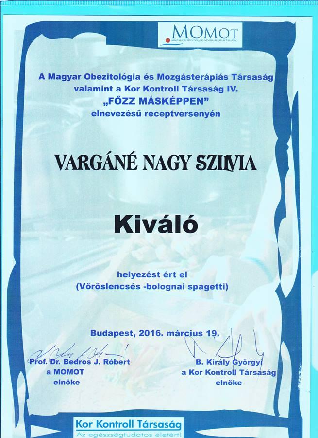 Vöröslencse bolognai - Kiváló díj a Főzz másként diétás receptversenyen